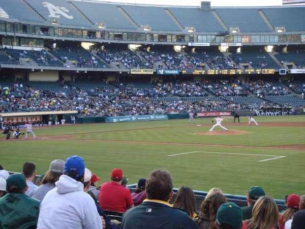 Oakland Coliseum, secção: 110, fila: 11, lugar: 13