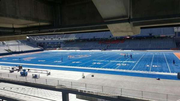 Albertsons Stadium, secção: 21, fila: W, lugar: 5