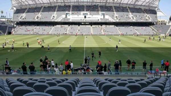 Banc of California Stadium, secção: field club C, fila: Q, lugar: 10