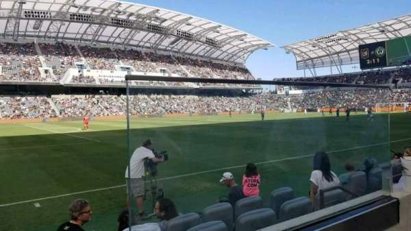 Banc of California Stadium, fila: A, lugar: 1