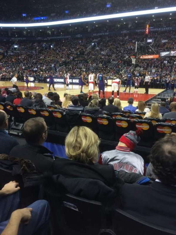 Scotiabank Arena, secção: 107, fila: 4, lugar: 6