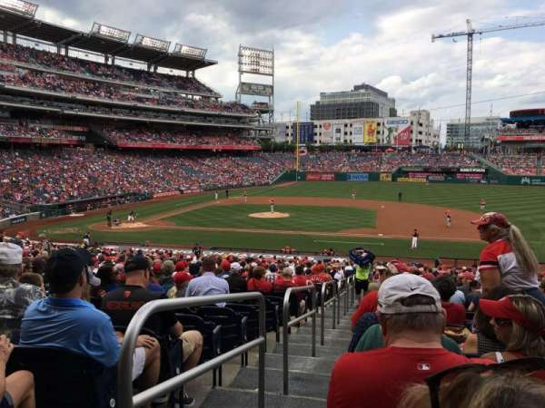 Nationals Park, secção: 130, fila: RR, lugar: 18