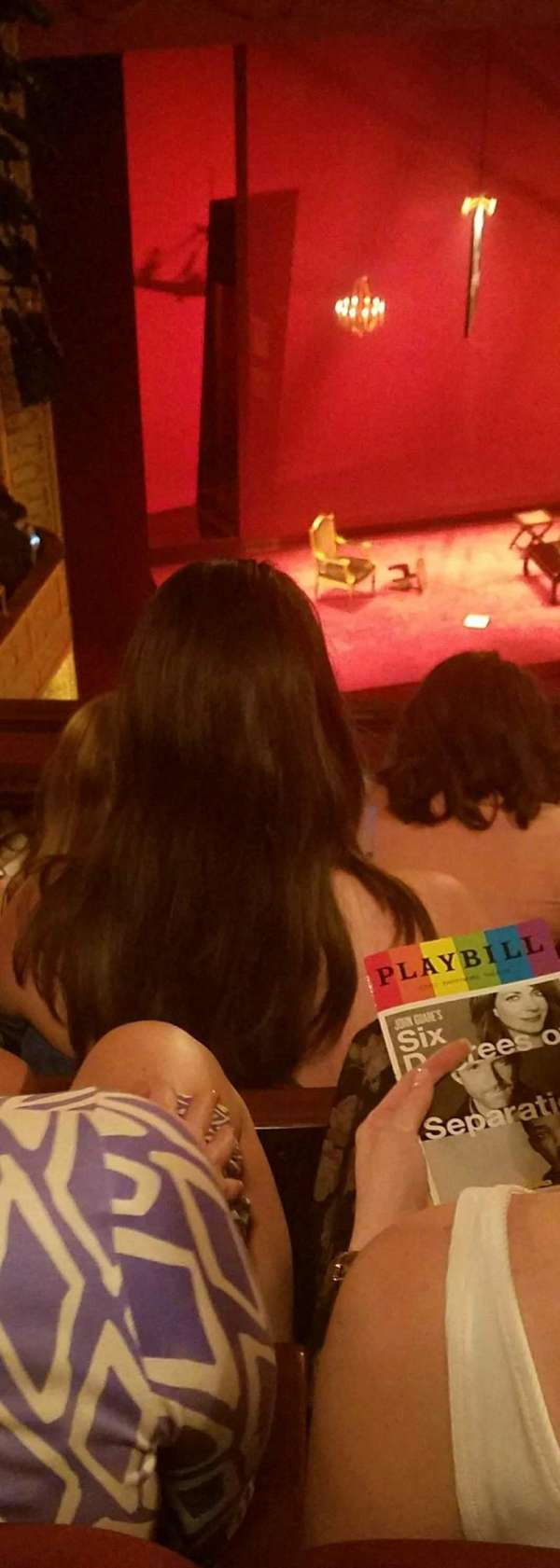 Ethel Barrymore Theatre, secção: Rear Mezzanine L, fila: E, lugar: 15