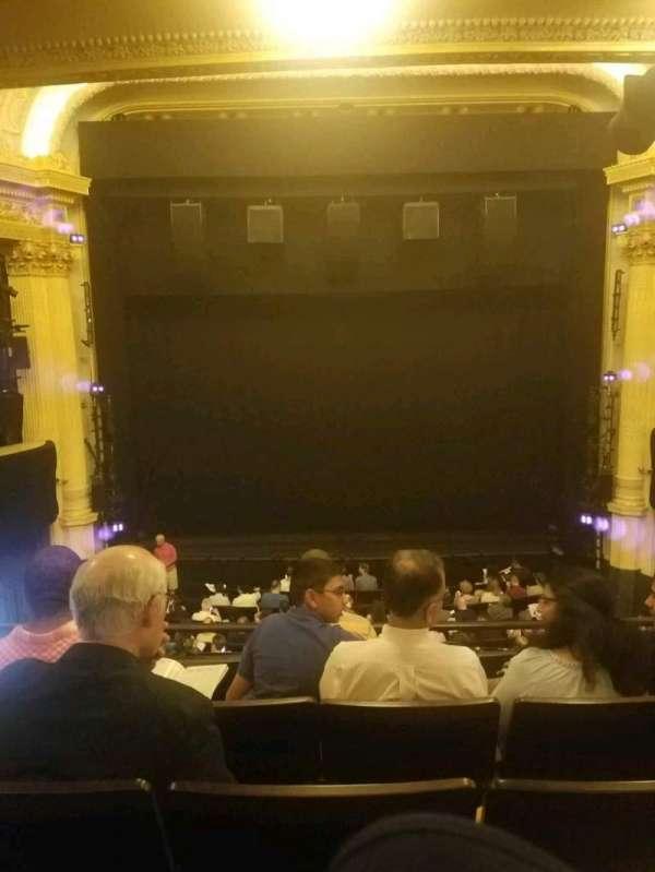Hudson Theatre, secção: dress circle c, fila: e, lugar: 108