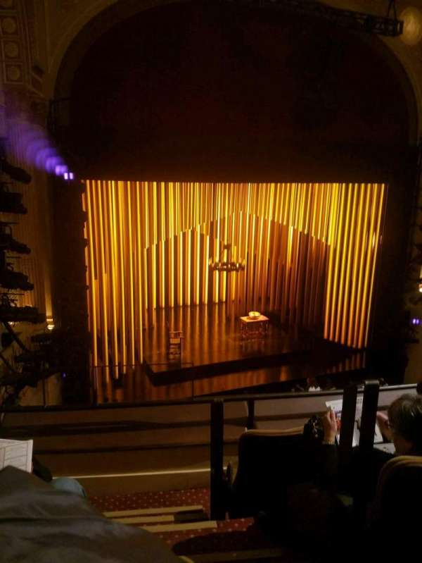 Samuel J. Friedman Theatre, secção: front mezz, fila: B, lugar: 1