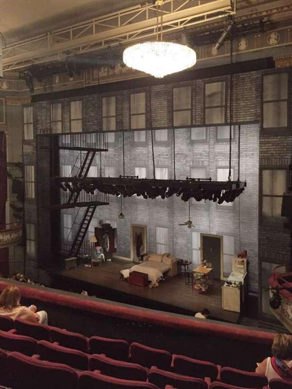 Broadhurst Theatre, secção: Mezzanine R, fila: F, lugar: 20
