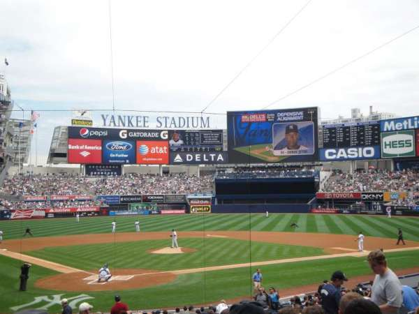 Yankee Stadium, secção: 119, fila: 26, lugar: 8