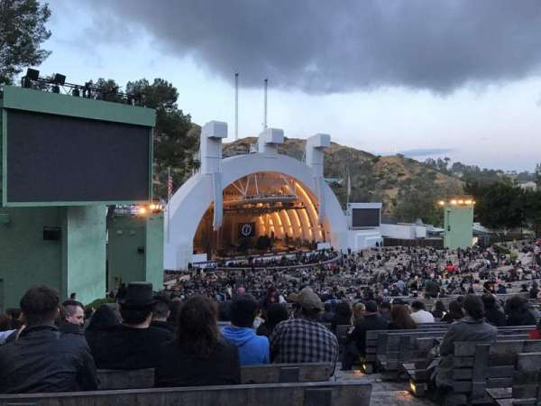 Hollywood Bowl, secção: K3, fila: 18, lugar: 3