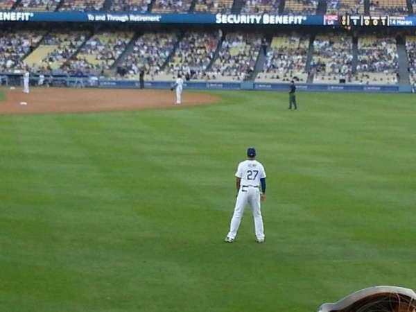 Dodger Stadium, secção: 304PL, fila: B, lugar: 5