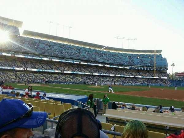 Dodger Stadium, secção: 26FD, fila: C, lugar: 4