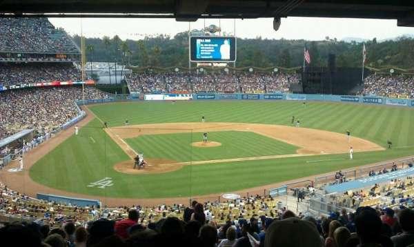 Dodger Stadium, secção: 114LG, fila: V, lugar: 7