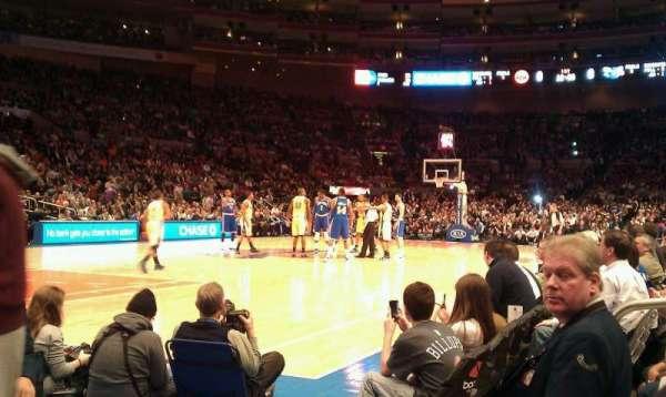 Madison Square Garden, secção: 109, fila: 1, lugar: 13