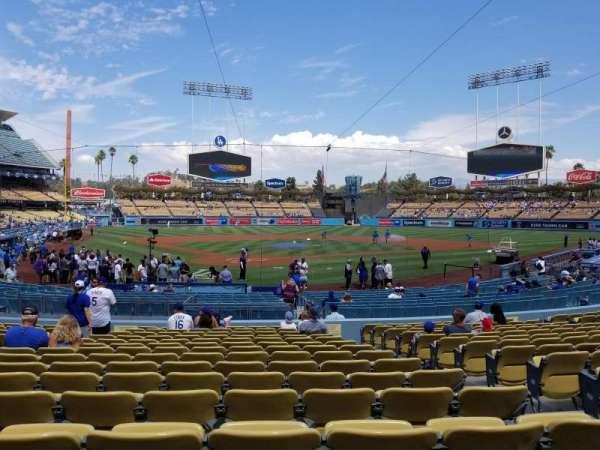 Dodger Stadium, secção: 4fd, fila: P, lugar: 9