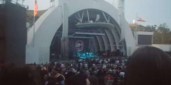 Hollywood Bowl, secção: E, fila: 16, lugar: 7