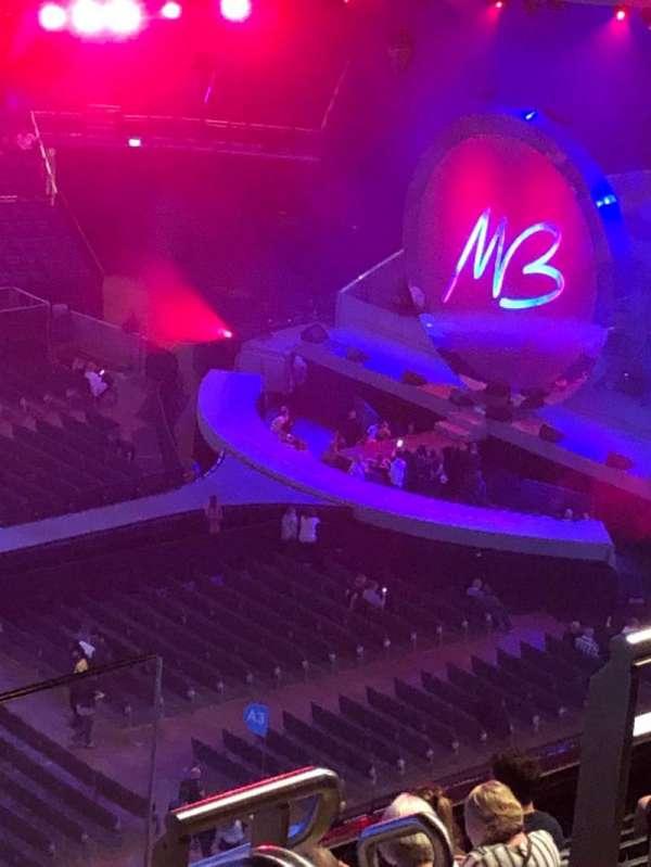 The O2 Arena, secção: 418, fila: K, lugar: 871