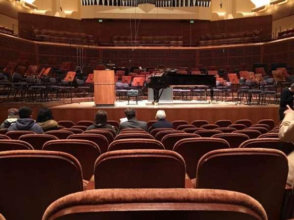 Davies Symphony Hall, secção: Orchestra, fila: J, lugar: 105