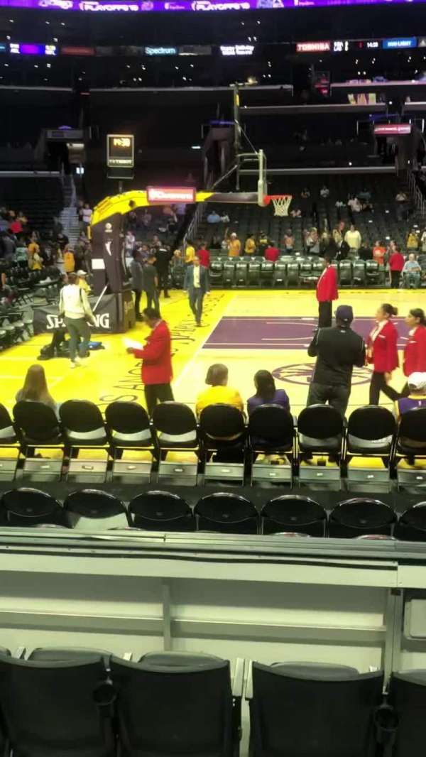 Staples Center, secção: 112, fila: 5, lugar: 13