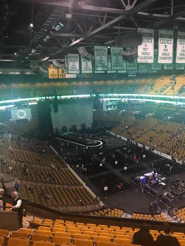 TD Garden, secção: Bal 311, fila: 11, lugar: 12