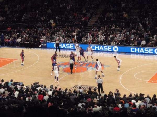 Madison Square Garden, secção: 226, fila: G, lugar: 3
