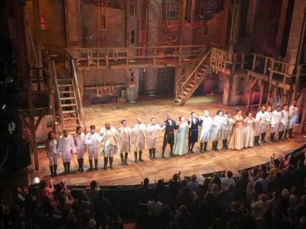 Richard Rodgers Theatre, secção: Front Mezzanine L, fila: A, lugar: 9