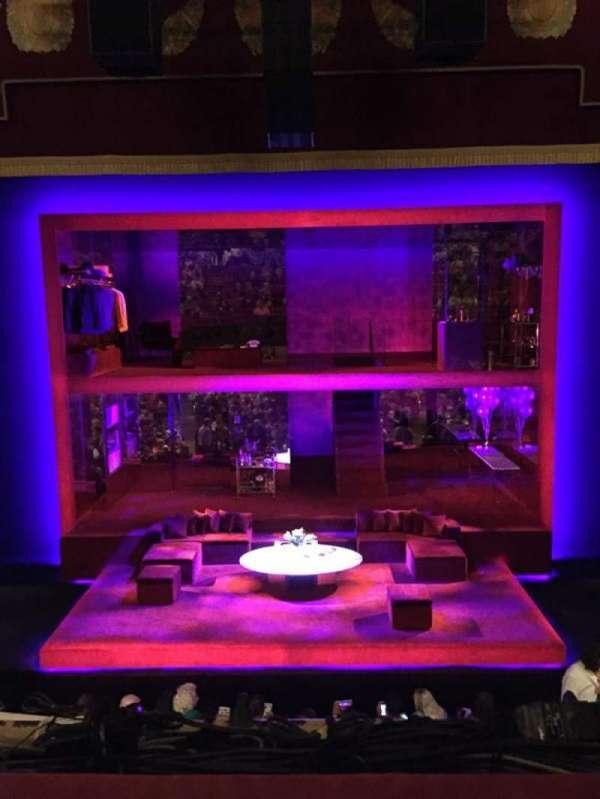 Booth Theatre, secção: Mezzanine C, fila: A, lugar: 108
