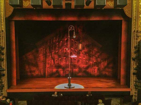 Longacre Theatre, secção: Mezzanine C, fila: A, lugar: 107