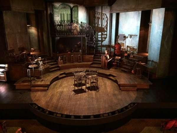 Walter Kerr Theatre, secção: Mezzanine C, fila: A, lugar: 107