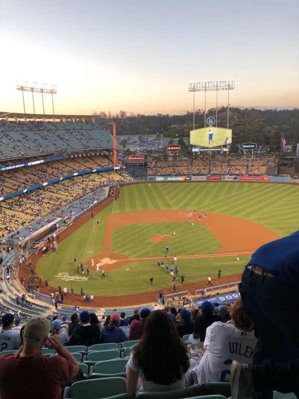 Dodger Stadium, secção: 8RS, fila: S, lugar: 19