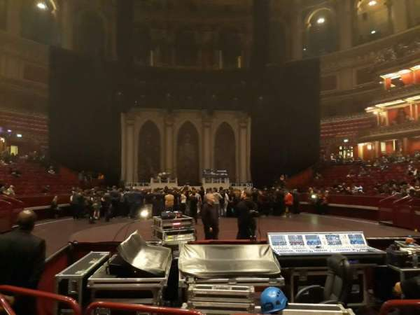 Royal Albert Hall, secção: Stalls K, fila: 2, lugar: 55