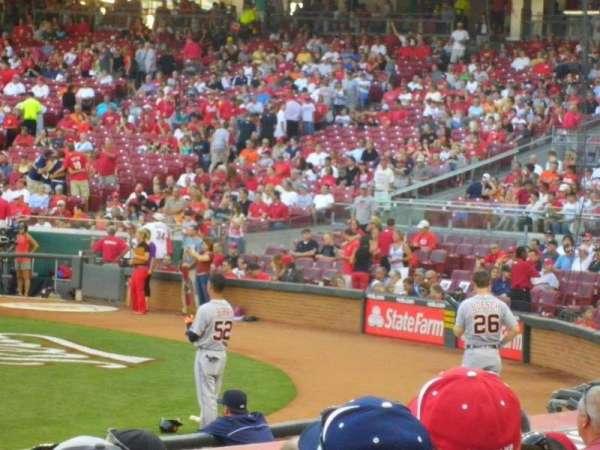 Great American Ball Park, secção: 116, fila: N