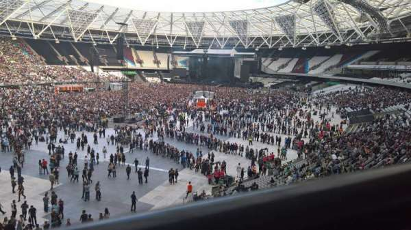 London Stadium, secção: 256, fila: 41, lugar: 666