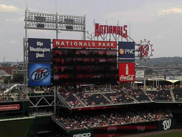 Nationals Park, secção: 303, fila: k, lugar: 3
