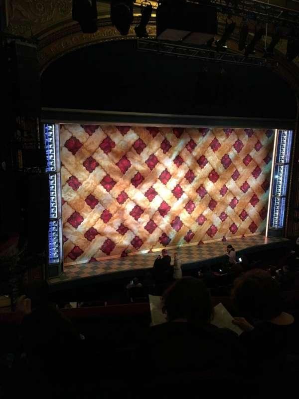 Brooks Atkinson Theatre, secção: Front Mezzanine L, fila: D, lugar: 15