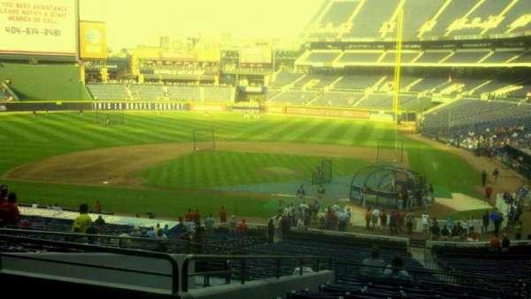 Turner Field, secção: 206, fila: 12, lugar: 7