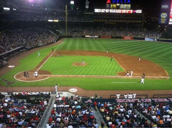 Turner Field, secção: 309, fila: 1, lugar: 5
