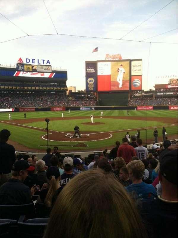 Turner Field, secção: 101, fila: 19, lugar: 3