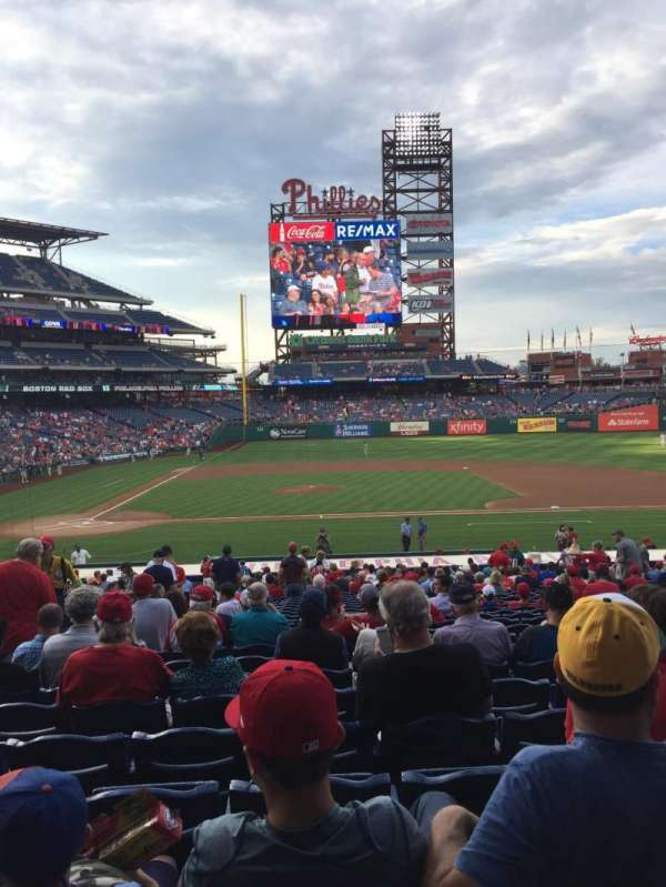 Citizens Bank Park, secção: 117, fila: 29, lugar: 14