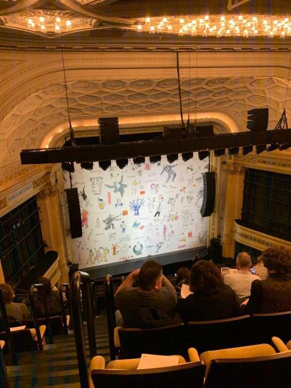 Hudson Theatre, secção: Balcony, fila: H, lugar: 101