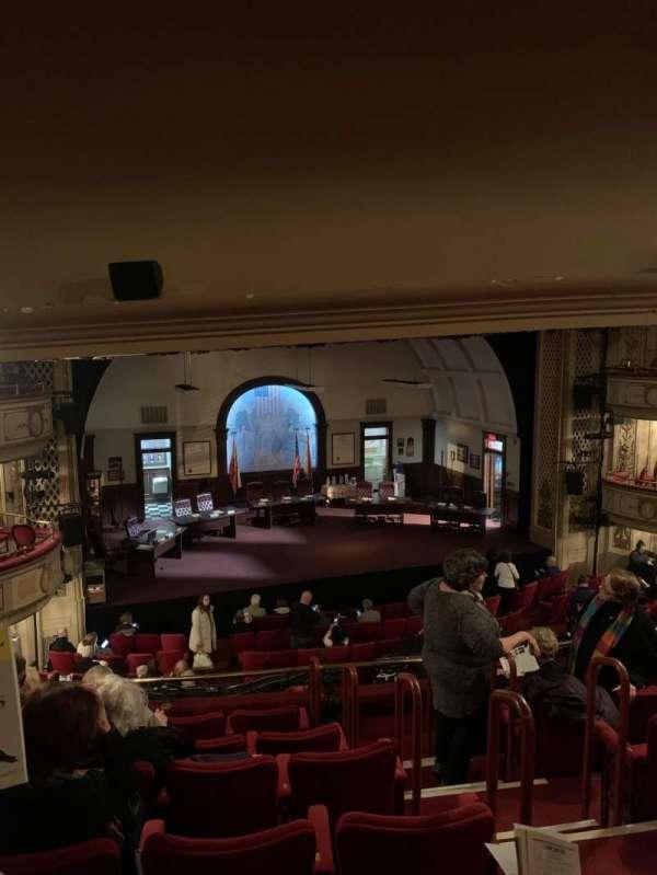 Cort Theatre, secção: Mezzanine L, fila: G, lugar: 5