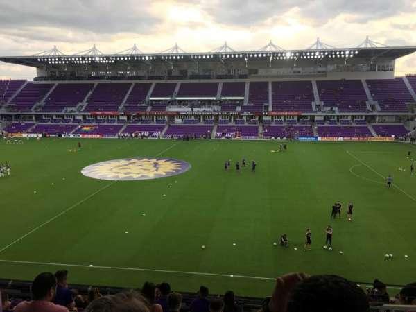 Exploria Stadium, secção: 133, fila: L, lugar: 2
