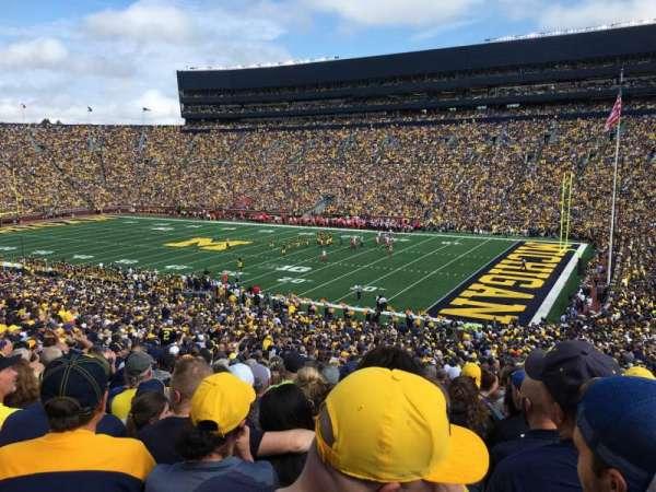 Michigan Stadium, secção: 18, fila: 62, lugar: 7