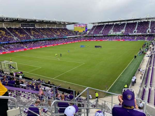 Exploria Stadium, secção: 122, fila: H, lugar: 21