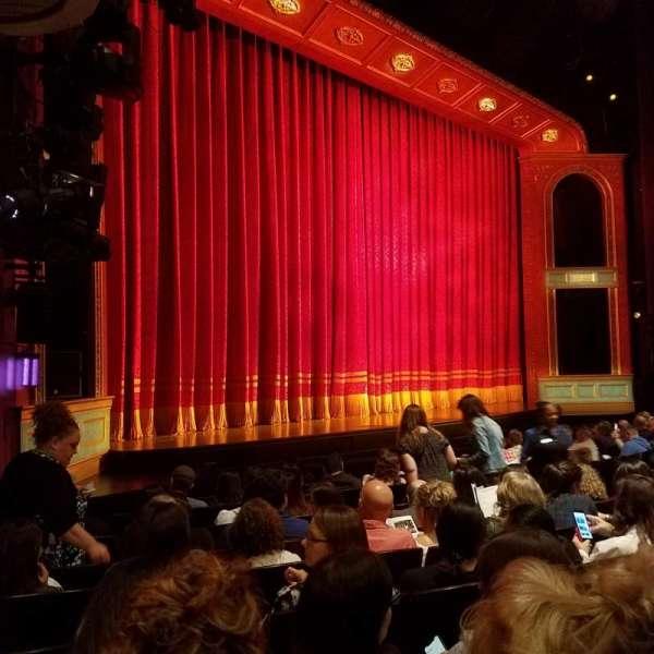 Marquis Theatre, secção: Orchestra L, fila: J, lugar: 19