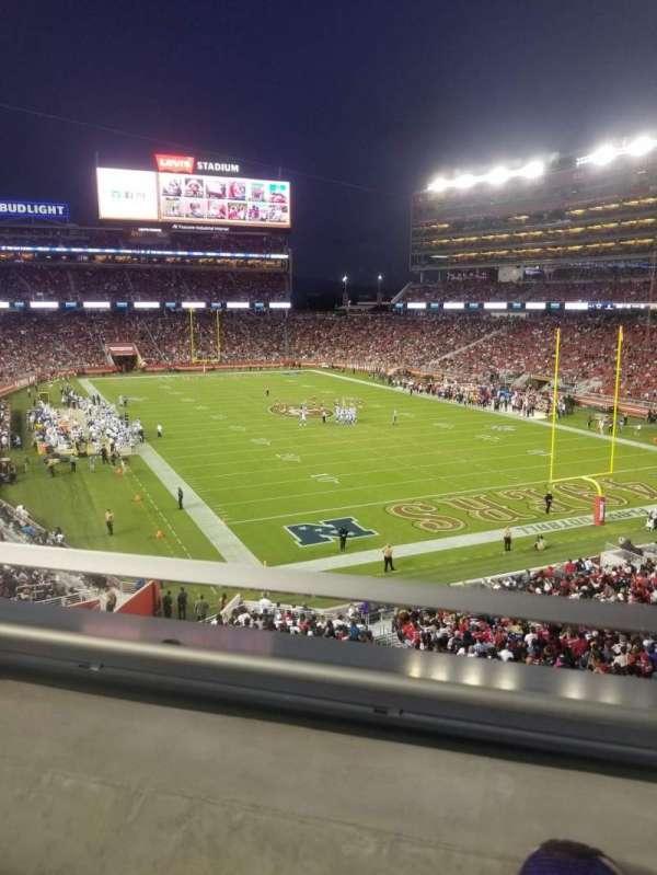 Levi's stadium , secção: 206, fila: 1, lugar: 28