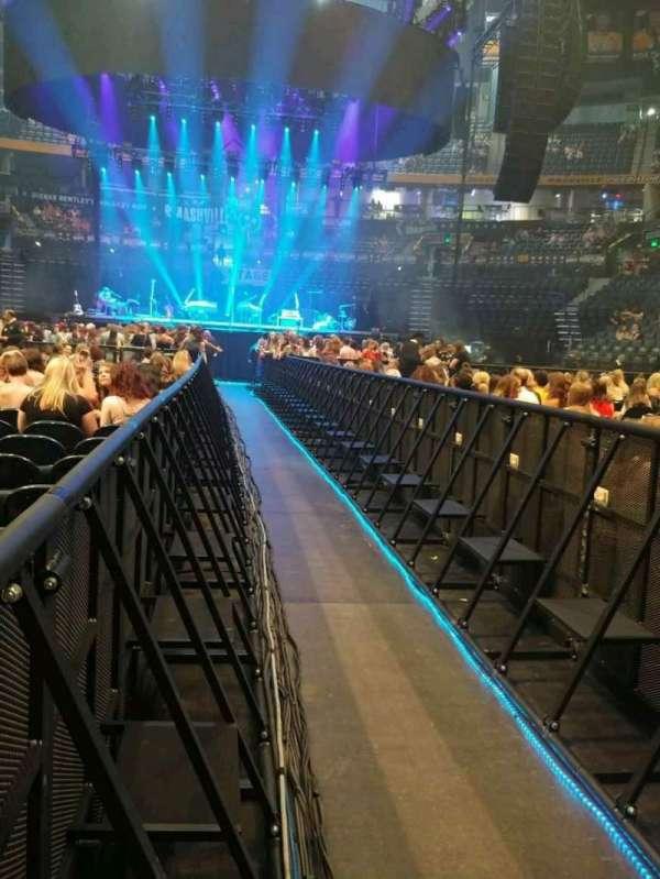Bridgestone Arena, secção: Floor 5, fila: 23, lugar: 1