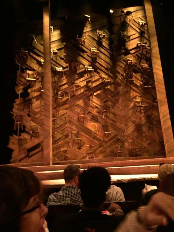 Bernard B. Jacobs Theatre, secção: Orchestra C, fila: C, lugar: 107