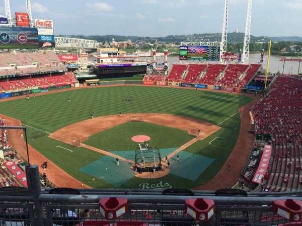 Great American Ball Park, secção: 523, fila: B, lugar: 13