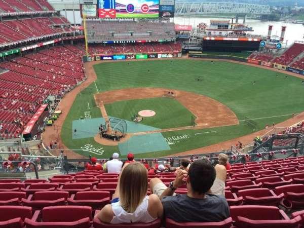 Great American Ball Park, secção: 527, fila: K, lugar: 14