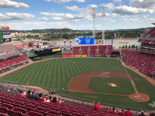 Great American Ball Park, secção: 518, fila: L, lugar: 9