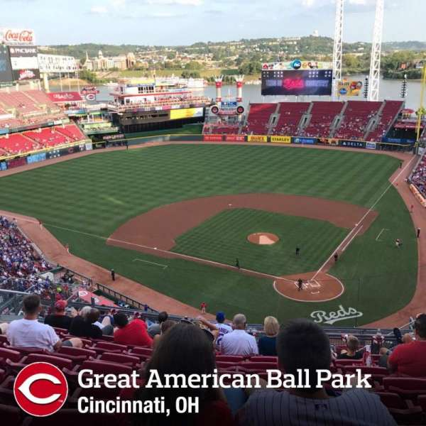 Great American Ball Park, secção: 531, fila: J, lugar: 8